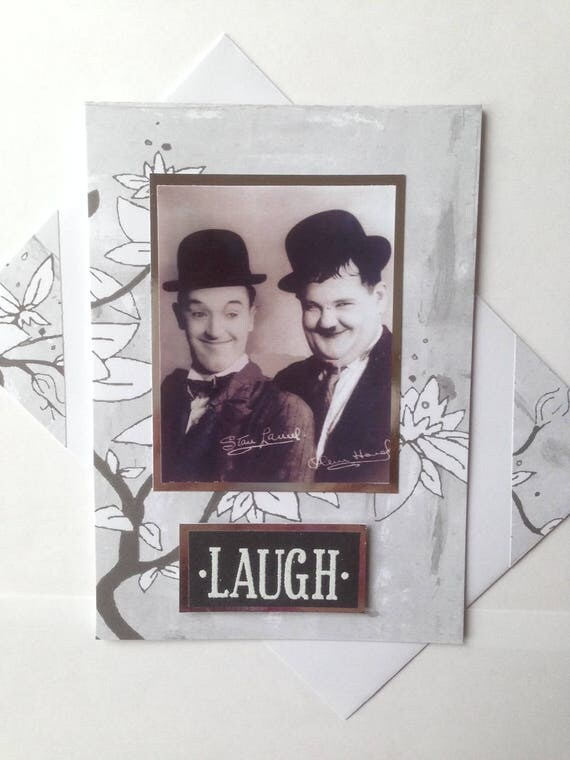 LAUREL AND HARDY birthday card laugh famous Double comedy act – Laurel and Hardy Birthday Cards