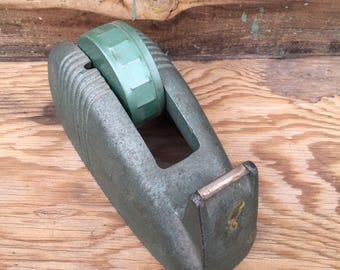 Vintage Industrial Scotch Tape Dispenser, Large Cast Iron Tape Dispenser, Primitive Tape Dispenser, Art Deco Tape Dispenser,  BR 2017