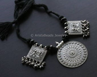 Handmade Tribal Banjara necklace, Vintage Coin Necklace,  Ethnic, Lambani Cord Necklace, Tribal Necklace, Rabari Tribe  Necklace