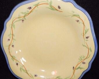 ON SALE Pfaltzgraff PISTOULET Salad Plate Yellow, Jana Kolpen Design, Dinnerware, Excellent Condition