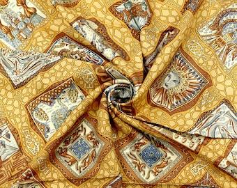 "HERMES SCARF Silk ""Mare Nostrum"" by Annie Faivre 90cm Carre 100% Auth"