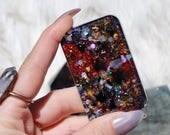 Orgonite® - Cell Phone Back - EMF Protection - Handmade - Orgone Generator® - Orgone Energy - Crystals - Gift - HoodXHippie