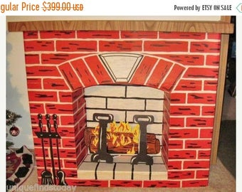 Electric fireplace | Etsy