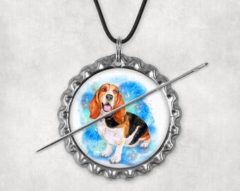 Needle Minders, Needle Nanny, Needle Keepers, Dogs, Dog,  Basset Hound, Beagle Puppy,  Needleminders, Needlenannies, Needle Holders, Set 1