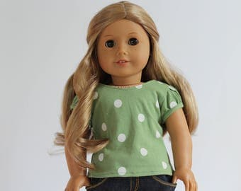Cotton Tshirt to fit like American Girl Doll Clothes, Doll tshirt, Doll Clothes