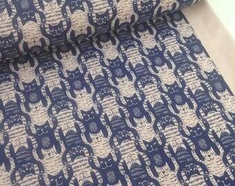 Cats Vintage Rose - Lillestoff  Organic Cotton jersey GOTS UK Seller