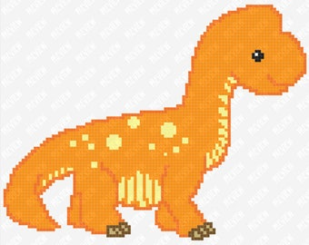 Dinosaur Bundle - Brontosaurus - Pterodactyl - Stegosaurus - T-Rex - Triceratops -  Counted Cross Stitch PDF Pattern - Instant Download