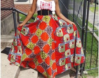 Rag maxi skirt