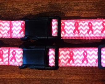 "1"" Breast Cancer Awareness Collar"