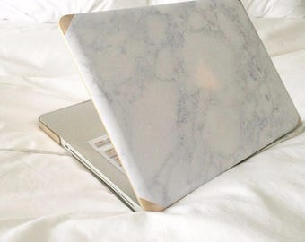 White Marble Macbook | Customized Macbook Pro Case Macbook Air Case Macbook Case Macbook Air 13 Case Marble Personalized Gifting Gold