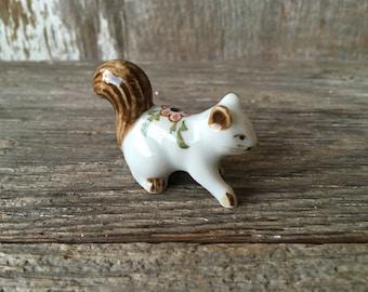 Hand Painted Ceramic Squirrel Figurine