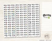 Grocery Shop Stickers - Planner Stickers - FS14