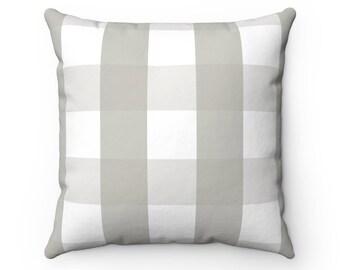 Grey Buffalo Check Pillow Case