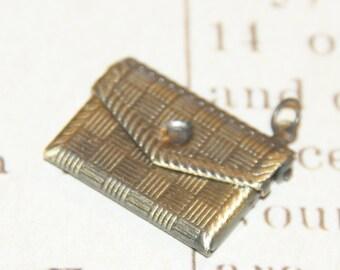 Connecteur enveloppe en métal couleur bronze 22x18mm