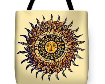 Southwest Del Sol Designer Throw Pillow Gift - Southwest Sun Design Tote Gift - Book Bag - ReUsable Shopping Bag - Laptop Bag - Diaper Bag
