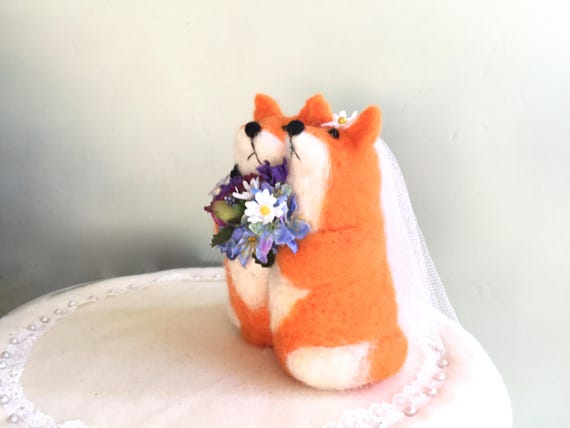 fat wedding cake toppers summer wedding cake topper fox foxes summer garden wedding 14210