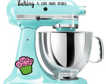 BAKING is LOVE Made VISIBLE sticker for Kitchen Aid Mixer Cookie Baker Bread Cupcake Family
