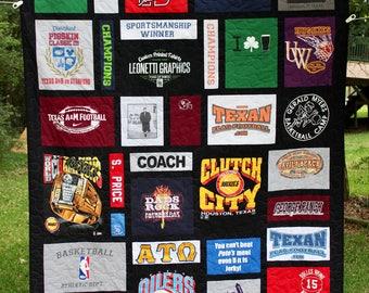 T shirt quilt | Etsy : t shirt quilt backing fabric - Adamdwight.com