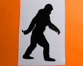 Bigfoot vinyl sticker decal, bigfoot sticker, sasquatch decal, sticker for car, tumbler decal, laptop decal