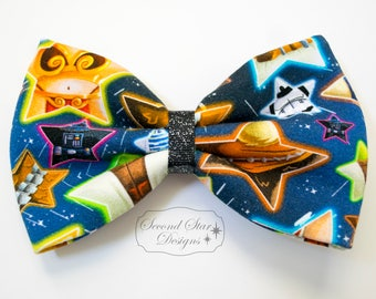 Star Wars Stars // Interchangeable Bow for Mouse Ears Headband or Hair // Clip-on Bow Tie