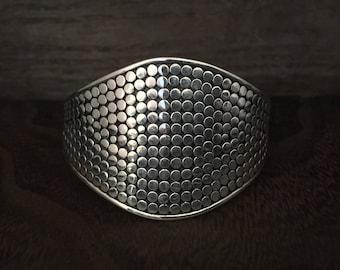 Beaded Bali Silver Cuff - 925 Sterling Silver - Bali Sterling Cuff -- Silver Cuffs