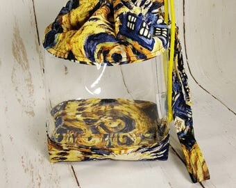 Exploding Tardis Doctor Who, Clear Knitting Project Bag, Clear Vinyl  Bag, Sock Knitting Bag, Clear project bag CVS0024