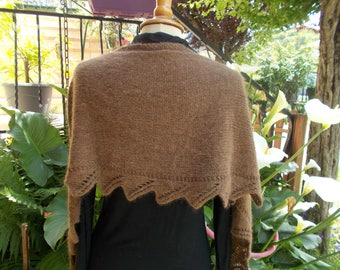 Wool and angora, soft warm simple and beautiful shawl/wrap