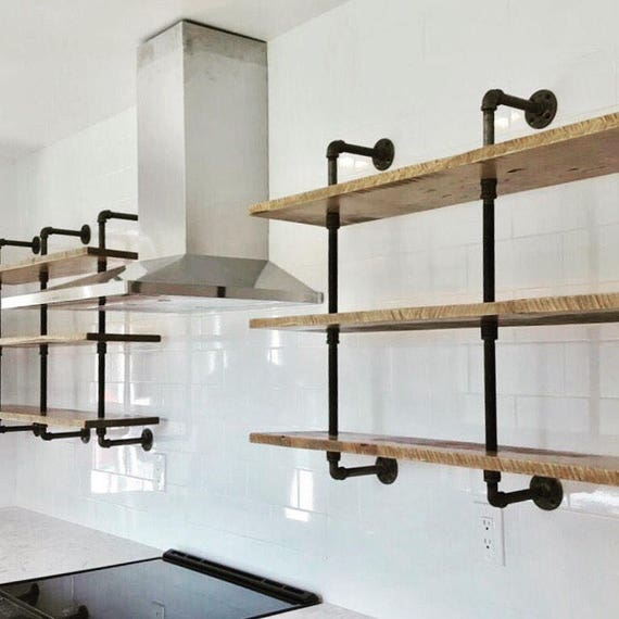 triple bookshelf vintage industrial with reclaimed wood shelf. Black Bedroom Furniture Sets. Home Design Ideas