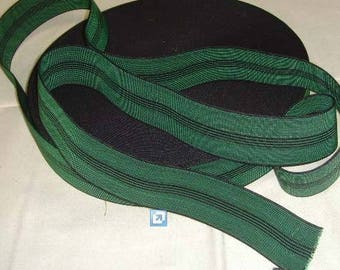 Green elastic strap - tapestry upholstery