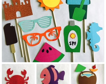 Summer Photo Booth Props; School's Out props; Summer is here props; Beach party