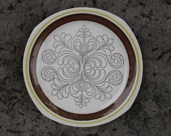 Swedish Vintage Gefle EK Dinner Plate, Designed By Helmer Lindström, Gefle Upsala Ekekeby, Vintage Gefle Sweden Scandinavian Design