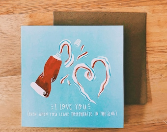 Toothpaste Greetings Card