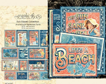 NEW!!! Graphic 45 Sun Kissed Ephemera Cards SC007773
