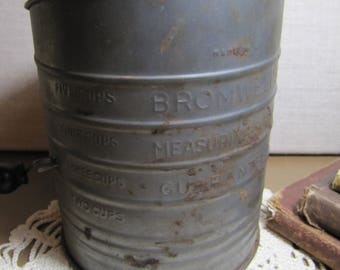 Vintage Bromwell's Measuring-Sifter - Five Cup Size