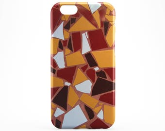 Yellow Red Tile iPhone 8 Case Style iPhone X Case iPhone 7 Case iPhone 8 Plus iPhone 6 Plus Case iPhone 5 6S Case iPhone SE Galaxy S8 Plus
