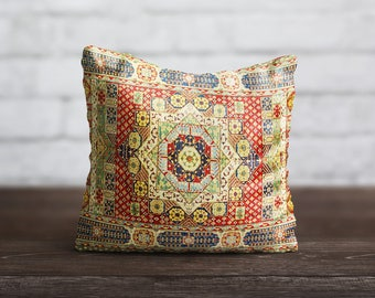 Persian Carpet Pillow Morocco PillowCase Geometric Red Cushion Case Persian Rug Toss Pillow Living Room Luxury Home Decor Throw Pillow Cover