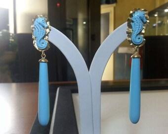 Hippocampus earrings