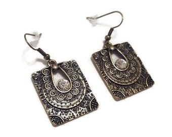 Vintage Gold Dangle Earrings - Vintage Gold Earrings - Vintage Dangle Earrings - Gold Dangle Earrings - Vintage Earrings - Gold Earrings