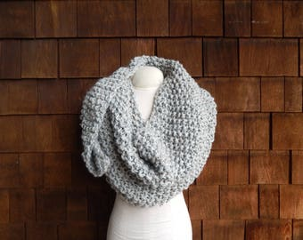 Knit Triangle Scarf ~ Gray ~ Triangle Scarf ~ The Willow