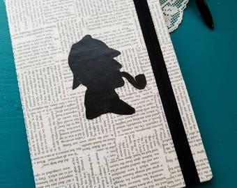 Sherlock Holmes Journal, Lined Blank Page Journal, Book Page Journal, Journaling, Sir Arthur Conan Doyle, Book Nook, MarjorieMae