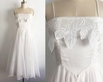 White Floral Overlay Wedding Dress