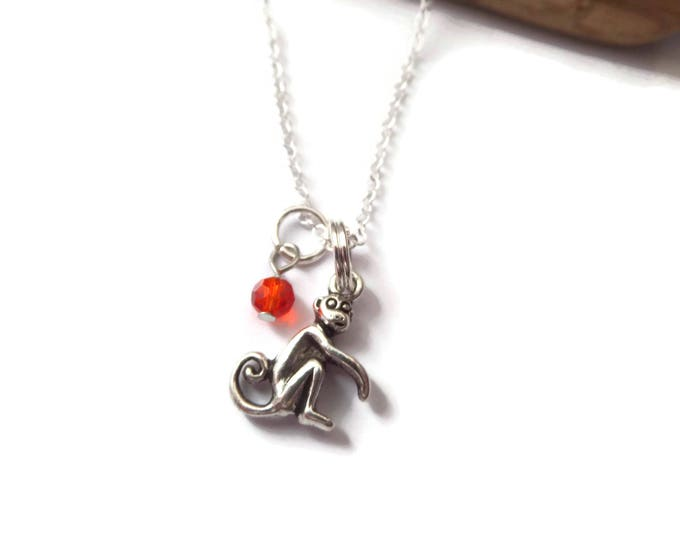 Monkey necklace, Monkey gift, love monkeys, monkey jewelry, zoo jewelry, animal favors, zoo party favours, animal gift, party favors gift