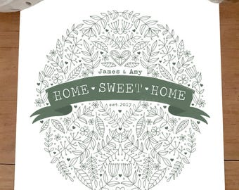 A4 Personalised New Home Print