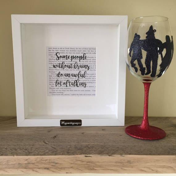 Wizard of oz print wizard of oz gift scarecrow quote