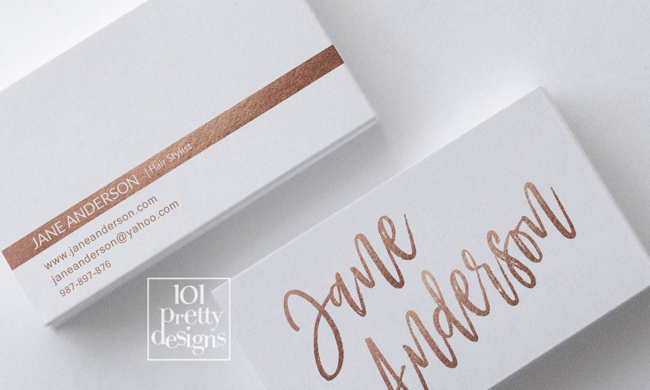 Golden business card design hair stylist business card design rose golden business card design hair stylist business card design rose gold business card printable goldn business magicingreecefo Image collections