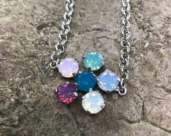 Swarovski opal daisy bracelet