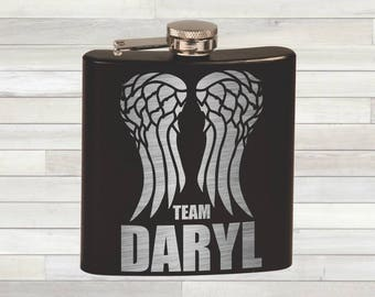The Walking Dead Flask. Team Daryl Flask. Team Dixon. Daryl Dixon Flask. Leather Jacket Patch Design. Daryl Dies We Riot