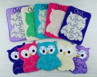 Owl Puzzle - #FIVERFRIDAY - Owl Felt Puzzle - Storage Pouch - Soft Owl  Puzzle - Toddler Puzzle - Puzzle Game - Educational Party Bag Favor