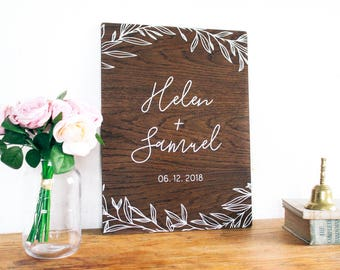 personalized wedding wooden sign custom gift rustic boho wedding anniversary decor decorations - Boho Decor
