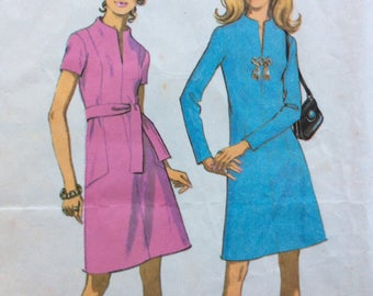 McCall's 2506 misses A-line dress size 12 bust 34 vintage 1970's sewing pattern